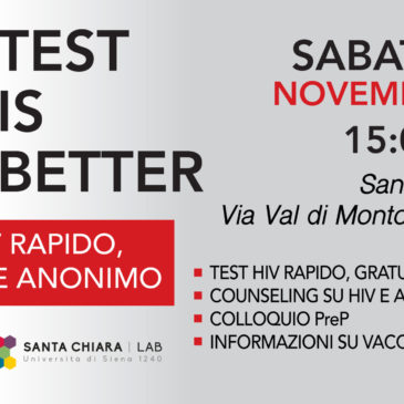 World Aids Day – Test HIV (gratuito, rapido, anonimo)